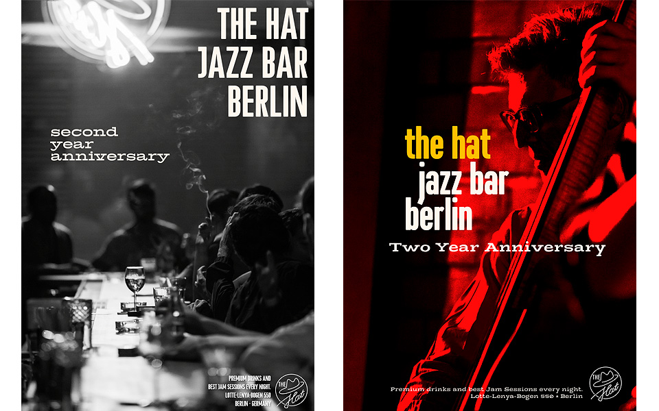 THE HAT Jazz Bar Berlin Plakate von Tom Pohl