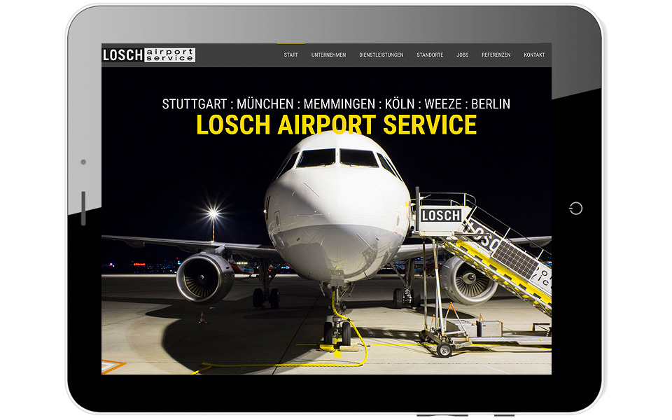 Losch Airportservice Homepage